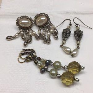 Bundle of vintage pierced earrings